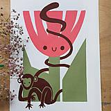 Obrazy - Kvetka a kamoš - 12154043_