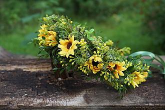Ozdoby do vlasov - Kvetinový venček - Slnečný deň - 12153775_