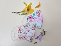 Rúška - Dizajnové bavlnené rúško - Roses premium - 12153436_