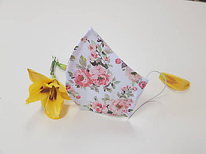 Rúška - Dizajnové bavlnené rúško - Roses premium (Šípové ruže) - 12153437_