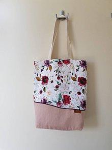 Nákupné tašky - Taška - červené ruže - 12153594_
