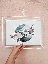 Obrazy - Akvarel originál - kosatky - 12154936_