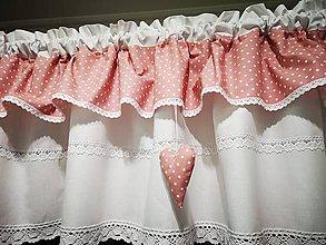 Úžitkový textil - Záclonka pudrovo ružová - 12153685_