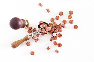 Suroviny - Pečatný vosk - granulát / až 32 odtieňov (Meď svetlá - metalická) - 12151546_