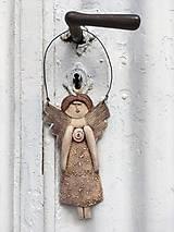 Socha - Plochá anjelka - 12151471_