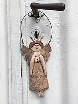 Socha - Plochá anjelka - 12151472_