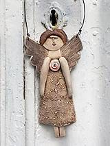 Socha - Plochá anjelka - 12151474_