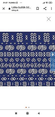 Iný materiál - Nepremokavý materiál  Čičmany modrý - 12154866_