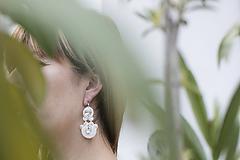Náušnice - Romanca - Svadobné náušnice - soutache earring (Ivory) - 12155378_