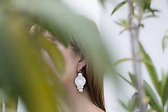 Náušnice - Šujtaška pre nevestu z paua mušlí - soutache earring - 12155400_