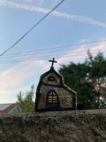 Dekorácie - Kameň - kostolík - 12155396_