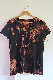 Tričká - Tričko_T-shirt_batik_black_XL_women - 12155881_