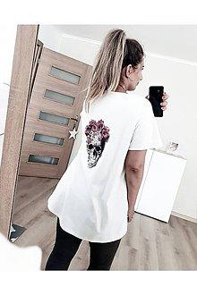 Tričká - Oversize tričko s potlačou - 12155916_