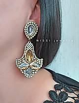 Náušnice - Zlato-strieborné elegantné náušnice - 12157685_