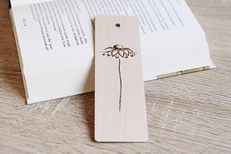 """Papiernictvo - Drevená záložka do knihy """"Margarétka"""" - 12156181_"""