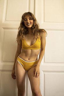 Bielizeň/Plavky - Trojuholníková podprsenka z bio bavlny GOTS - žltá - 12155133_