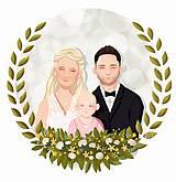 Obrázky - Rodinný portrét na želanie - PDF na stiahnutie (dve osoby) - 12157511_