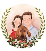 Obrázky - Rodinný portrét na želanie - PDF na stiahnutie (dve osoby) - 12157512_