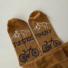 Obuv - Maľované ponožky pre cykloturistu - 12157688_