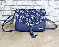 Kabelky - Modrotlačová kabelka Petra modrá 7 - 12156542_
