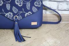 Kabelky - Modrotlačová kabelka Petra modrá 7 - 12156543_