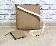 Kabelky - Kožená modrotlačová kabelka Dara WILD1+ taštička - 12156554_