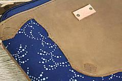 Kabelky - Kožená modrotlačová kabelka Dara WILD1+ taštička - 12156558_