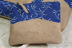 Kabelky - Kožená modrotlačová kabelka Dara WILD1+ taštička - 12156559_