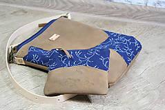Kabelky - Kožená modrotlačová kabelka Dara WILD1+ taštička - 12156560_