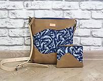 - Kožená modrotlačová kabelka Dara WILD 2+ taštička - 12156563_