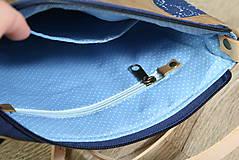 Kabelky - Kožená modrotlačová kabelka Dara WILD 3+ taštička - 12156572_