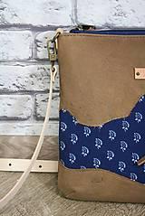 Kabelky - Kožená modrotlačová kabelka Dara WILD 3+ taštička - 12156574_