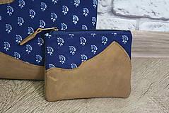 Kabelky - Kožená modrotlačová kabelka Dara WILD 3+ taštička - 12156577_