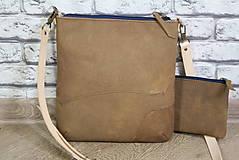 Kabelky - Kožená modrotlačová kabelka Dara WILD 3+ taštička - 12156579_