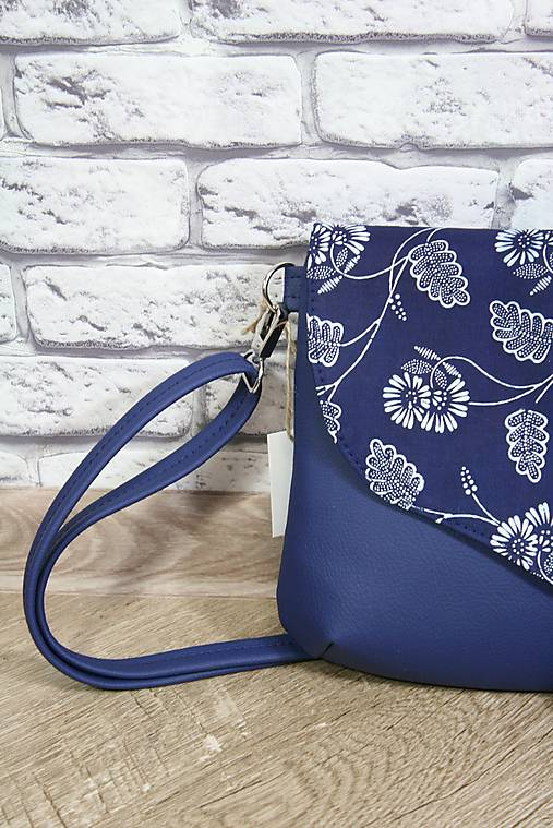 Modrotlačová kabelka Petra modrá 7