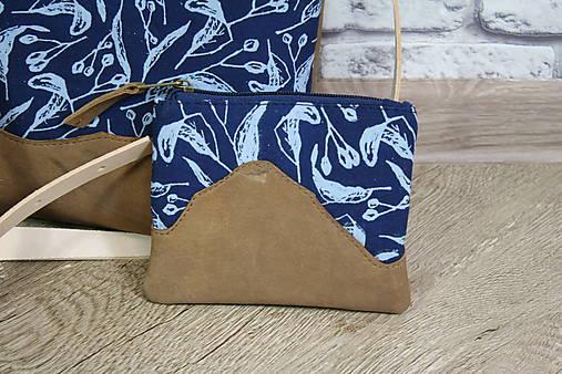 Kožená modrotlačová kabelka Dara WILD 2+ taštička