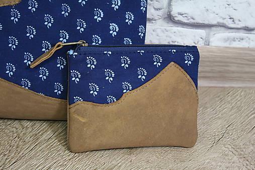 Kožená modrotlačová kabelka Dara WILD 3+ taštička