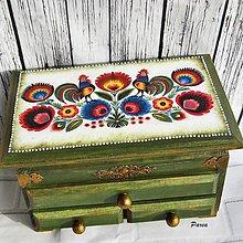 Krabičky - Drevená šperkovnica-Hanka - 12160379_