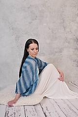 - Mohérové dlhšie svadobné bolero Eleanor, bez rukávov (mohér, hodváb) - 12159045_