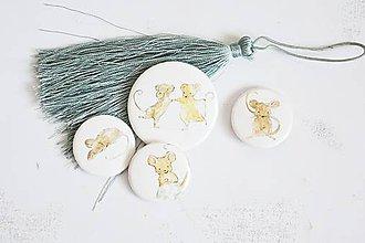 Odznaky/Brošne - Buttonky/odznačiky - myšky - 12158026_