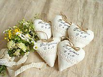 Darčeky pre svadobčanov - Svadobné srdiečka Vintage - 12158982_