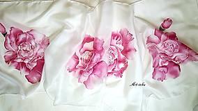 Šály - Šál hodvábny - ruže bez tŕnia - 12159823_