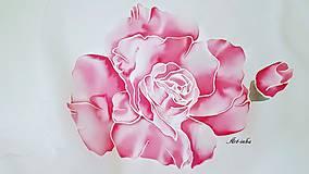 Šály - Šál hodvábny - ruže bez tŕnia - 12159824_
