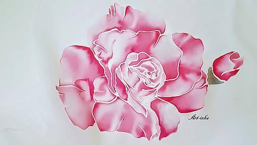 Šál hodvábny - ruže bez tŕnia