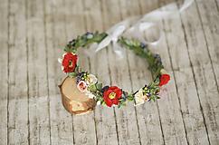 Ozdoby do vlasov - Jemný kvetinový venček - 12159395_