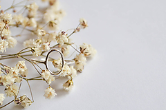 Prstene - Strieborný prsteň - ovál - 12159722_