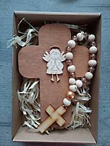 Dekorácie - Set krížik a ruženec - 12159359_