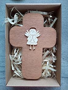 Dekorácie - Krížik v darčekovom balení - 12159242_