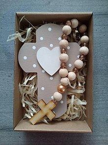 Dekorácie - Set krížik a ruženec - 12159367_
