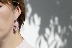 Náušnice - Staroružová Emma - Ručne šité šujtášové náušnice - Soutache earrings - 12159122_